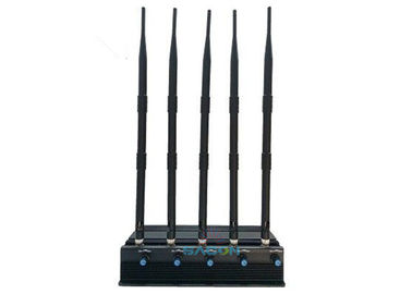 2G 3G 4G Wifi Signal Jammer Blocker 5 Antennas With 50-60Hz Frequency