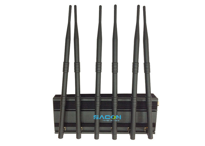 2G 3G 4G GPS Mobile Phone Signal Jammer DC12V With 50m Range , 15w Power