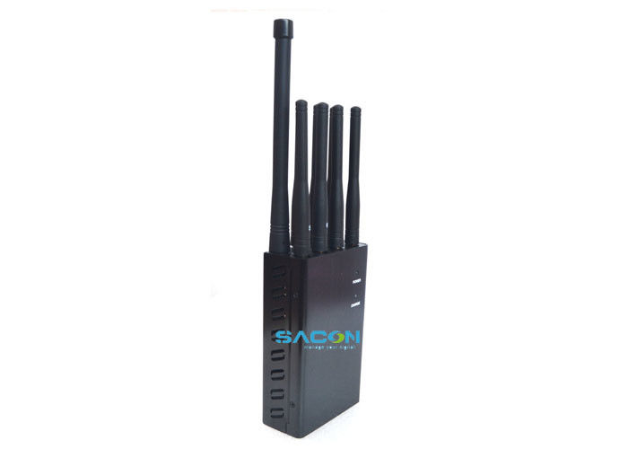 8 Antennas Portable Mobile Phone Signal Jammer 90 Minute Work With Full Charge