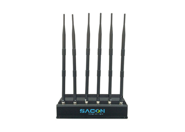 DC12v Car Cell Phone Signal Jammer Non Adjustable For Conference Rooms / Museums