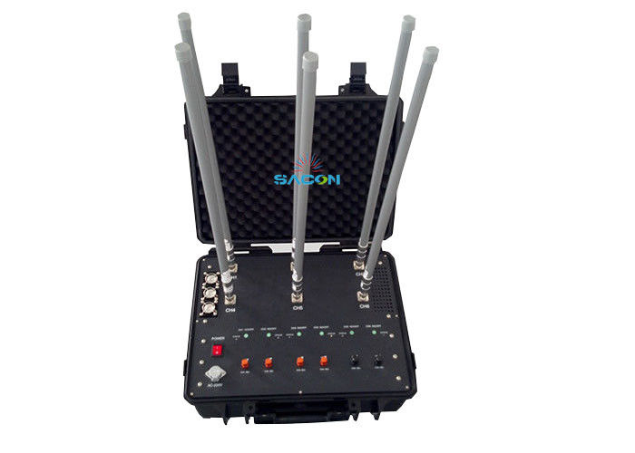 20 - 2700Mhz 8 Bands High Frequency Jammer Hand - Pull Box Jammer Defense System